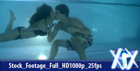 VideoHive Couple Kissing Underwater 2708464