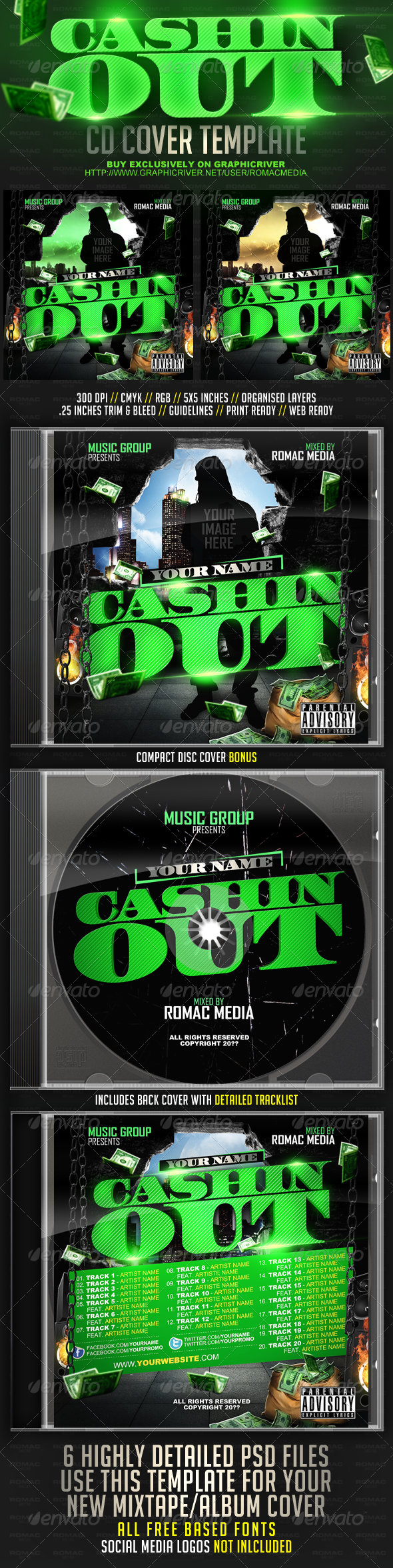 GraphicRiver Cashin Out CD Cover 2711253