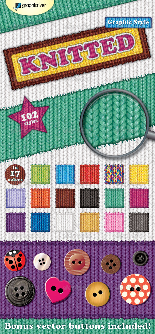 GraphicRiver Knitted Graphic Style 2688733
