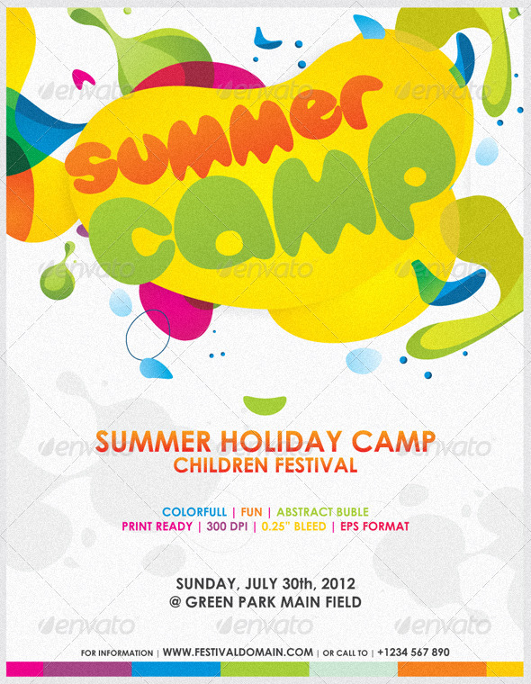 GraphicRiver Colorfull Summer Camp Fest Flyer 2700685