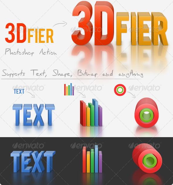 GraphicRiver 3Dfier Solid Maker Action with 3D Reflection 2694454