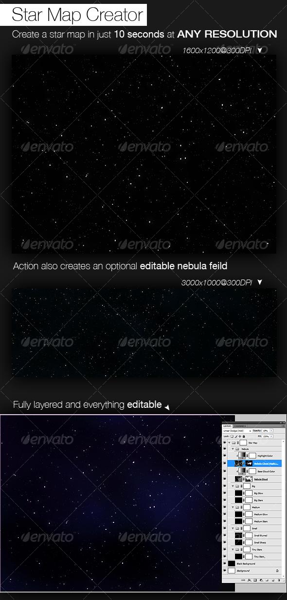 GraphicRiver Star Map Creator 98235