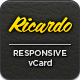 Ricardo - Responsive Personal vCard - ThemeForest Item for Sale