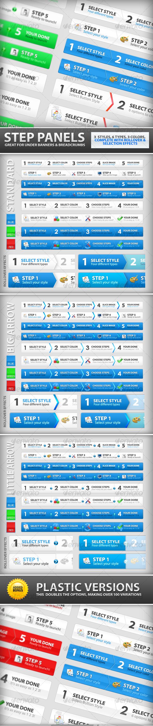 GraphicRiver Step Process Panels Mega Set Over 100 Variations 98250