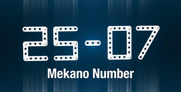 VideoHive Mekano Number Creator 2720280
