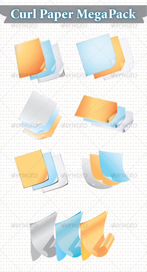 GraphicRiver Curl Paper Mega Pack 98377