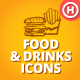 150 Hand-drawn Food and Drinks Icons - GraphicRiver Item for Sale