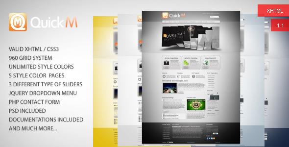 ThemeForest QuickM HTML Template 1464002