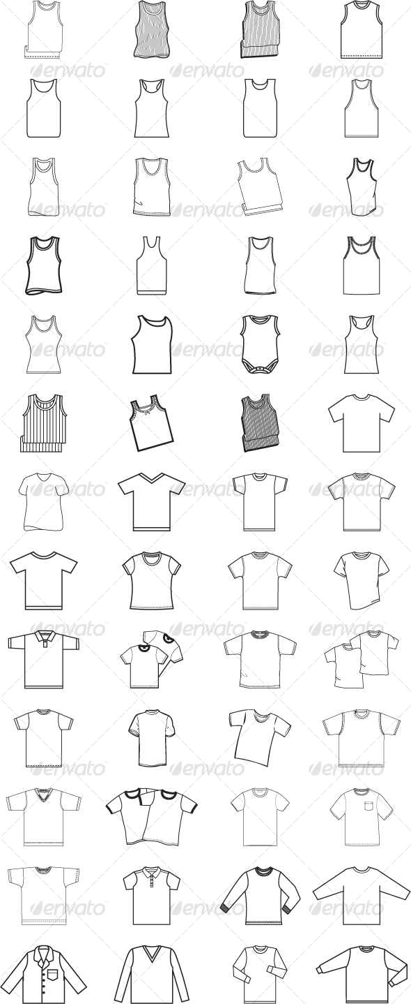 Graphic River A-shirt & T-shirt collection Vectors -  Objects  Organic objects 98532