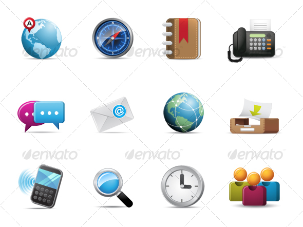 GraphicRiver Qicon series Web and Communication icons 98536