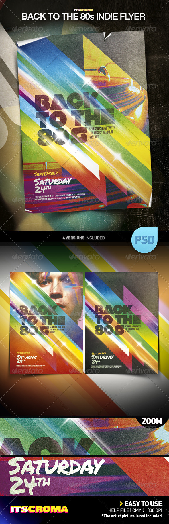 GraphicRiver Indie Vintage Poster Template Back to the 80s 409794