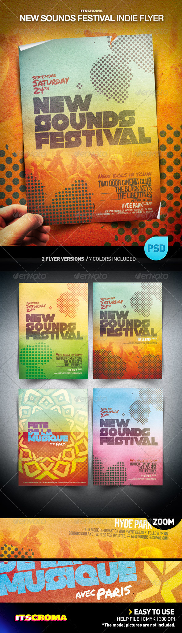 GraphicRiver Indie Flyer Poster New Sounds Festival 741737