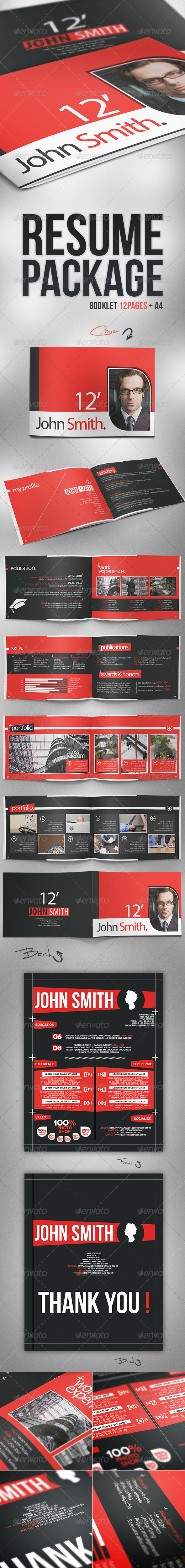 GraphicRiver Resume Package 2714667