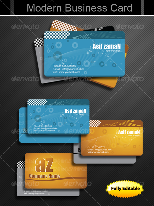 GraphicRiver Modern Business Cards 96120