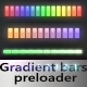 Gradient Bars Preloader - ActiveDen Item for Sale
