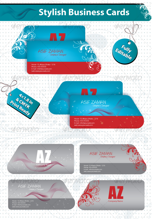 GraphicRiver Stylish Business Cards 98692