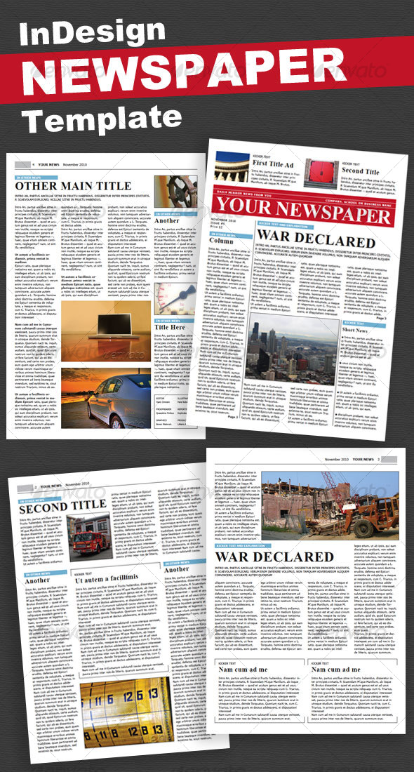 GraphicRiver Newspaper 4 Pages 97139