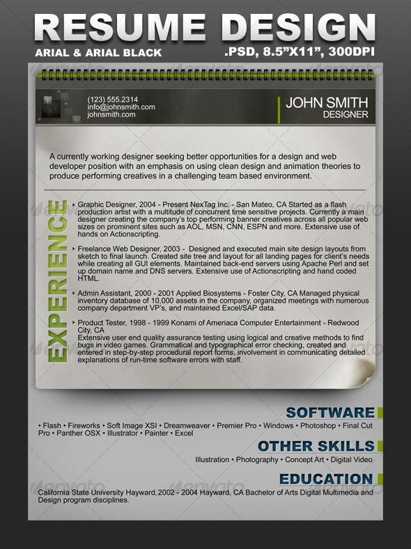 GraphicRiver Creative Resume Template 97806