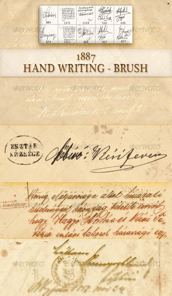 GraphicRiver old hand writing brush 96936