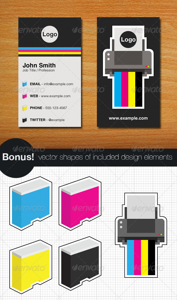 Graphic River Printer Business Card and Vectors Print Templates -  Business Cards  Industry Specific 294647