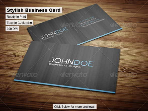 GraphicRiver Stylish Business Card 35199