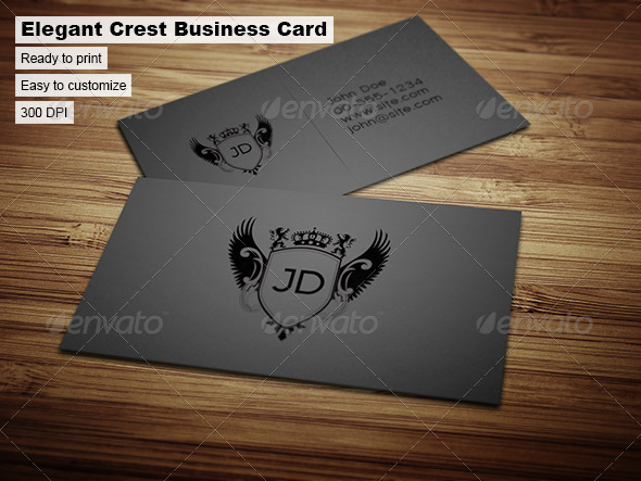 GraphicRiver Elegant Crest Business Card 35090