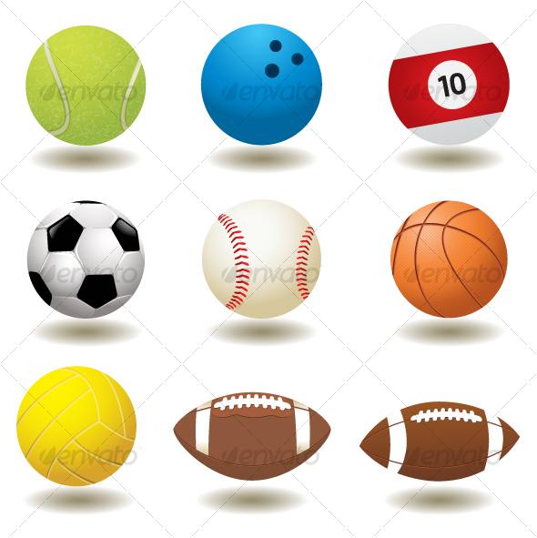 GraphicRiver Vector Sport Balls 98891