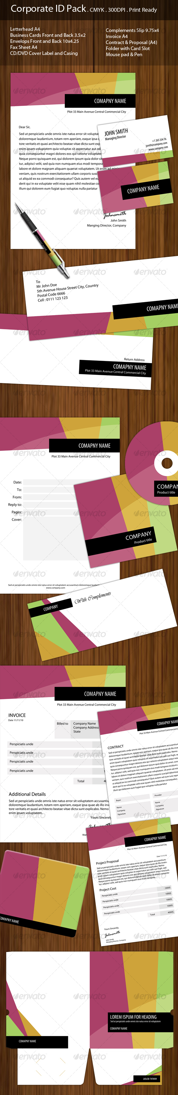 GraphicRiver Corporate ID Complete Pack 98900
