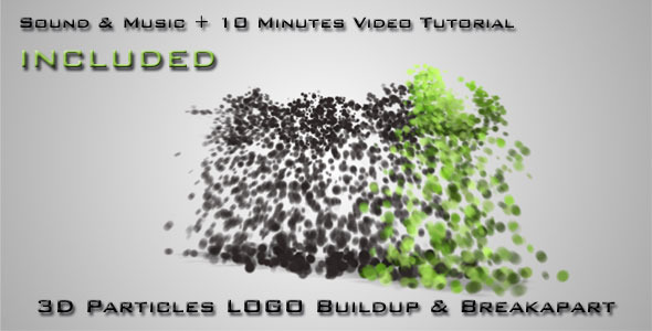 After Effects Project - VideoHive 3D Particles Logo Build Up & Break Apart Intro 300485