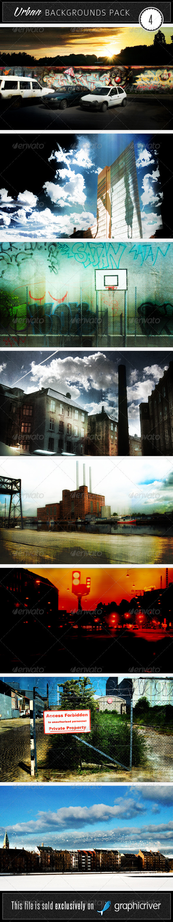 GraphicRiver Urban Backgrounds Pack 4 45201