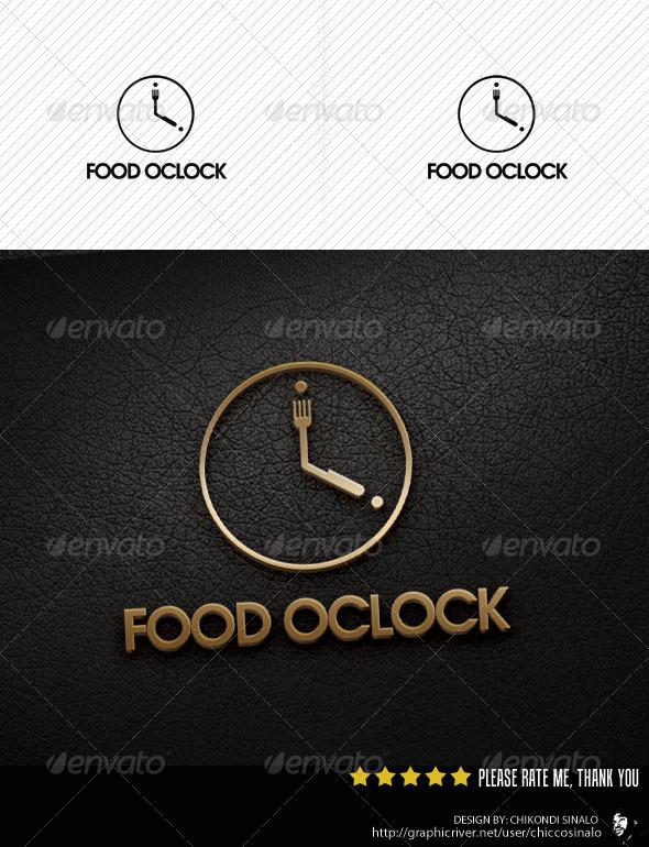 GraphicRiver Food Oclock Logo Template 2734900