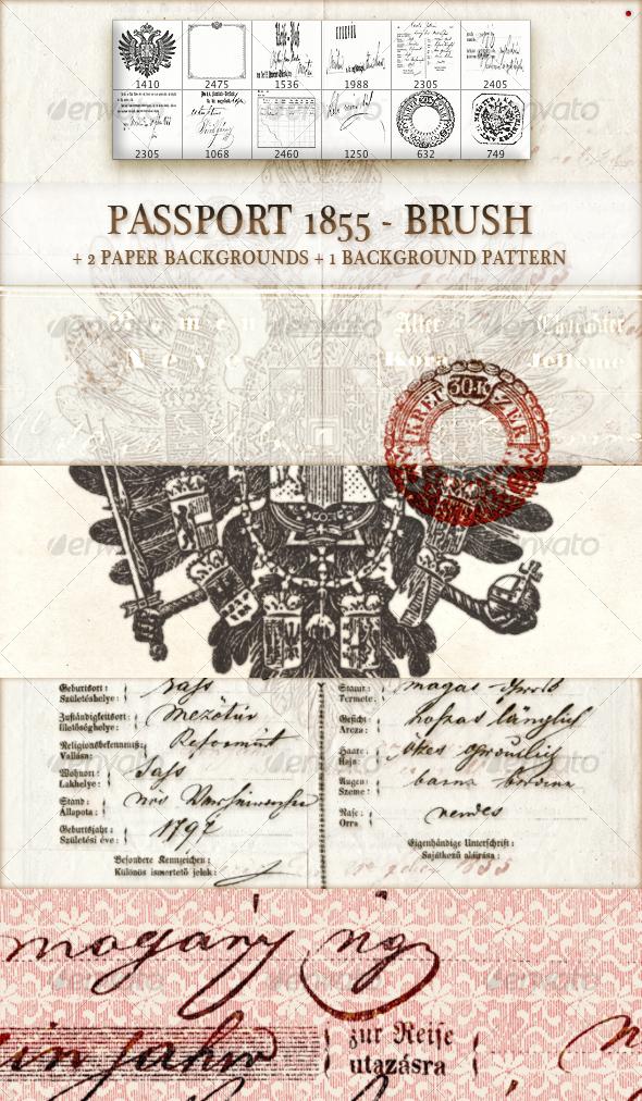 GraphicRiver passport 1855 brush 99218