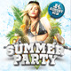 Tropical Summer Party Flyer Template - GraphicRiver Item for Sale