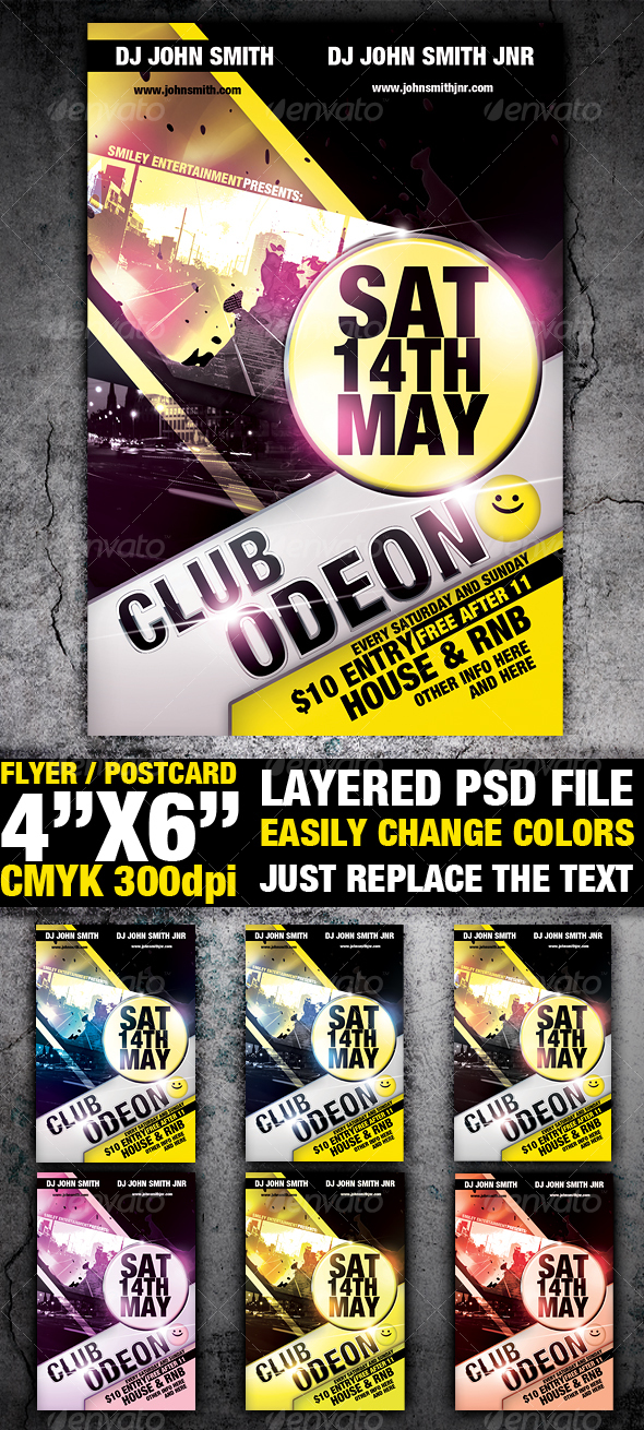 GraphicRiver Club Flyer Template 99228