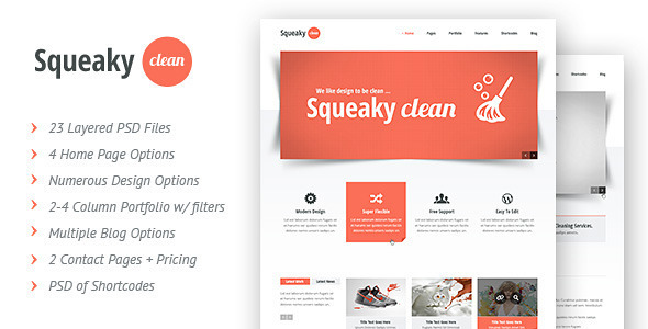PSD Templates – Squeaky Clean | PSD | ThemeForest