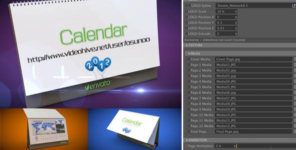 VideoHive 3D Calendar Preset 2743536