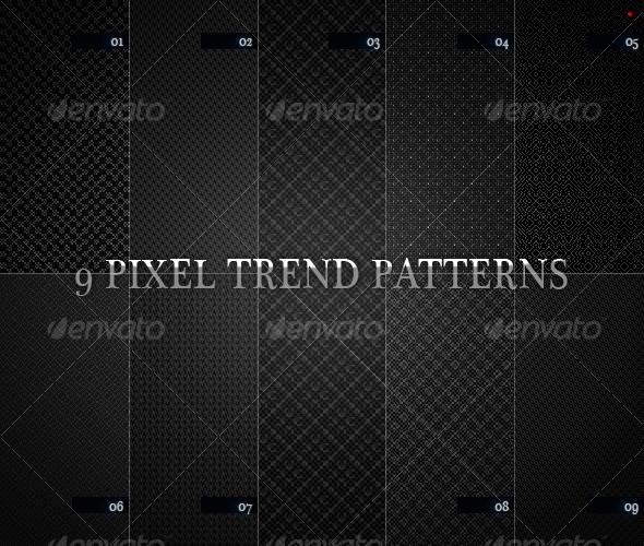 GraphicRiver 9 pixel trend pattern 98189