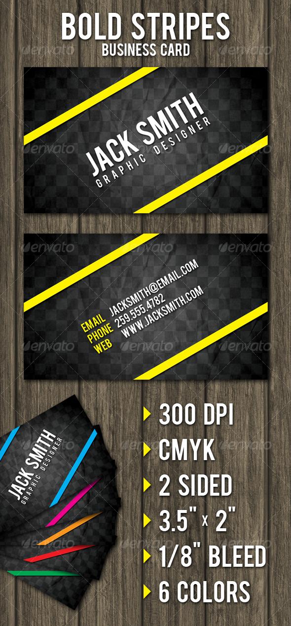 GraphicRiver Bold Stripes Business Card 99356