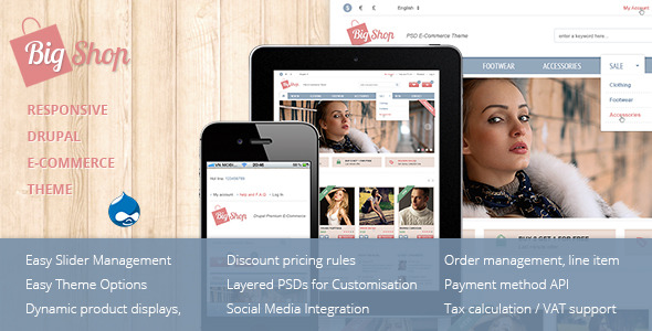Bigshop Best responsive Drupal Commerce Theme