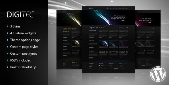 ThemeForest DigiTec WordPress Theme WordPress Creative 2745068