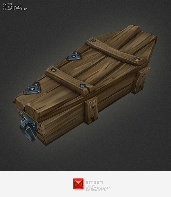 3DOcean Low Poly Coffin 2762779