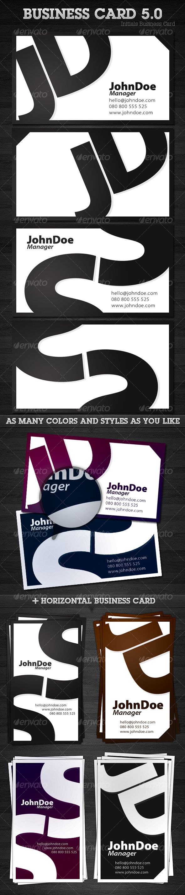 GraphicRiver Initials Business Card 5.0 99602