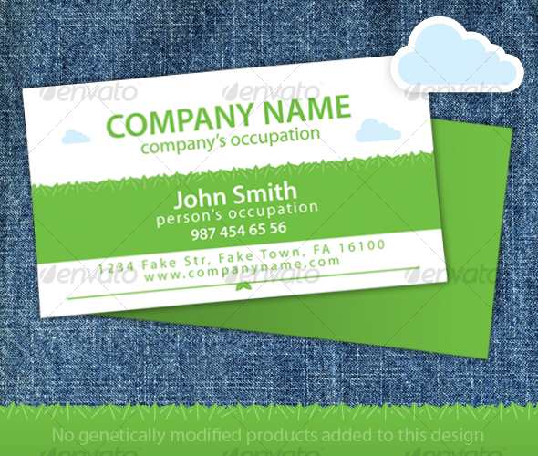 GraphicRiver Green Leaves Organic Food Store Business Card 99663