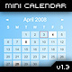 MiniCalendar v1.0 - XML Driven - ActiveDen Item for Sale
