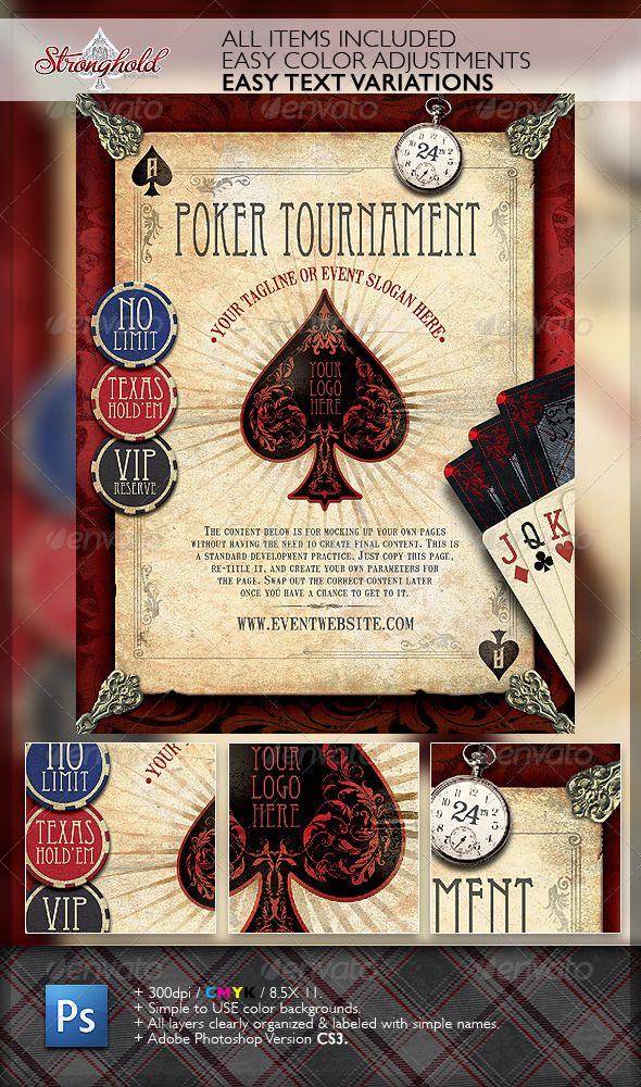 GraphicRiver Vintage Poker Flyer Template 2747033