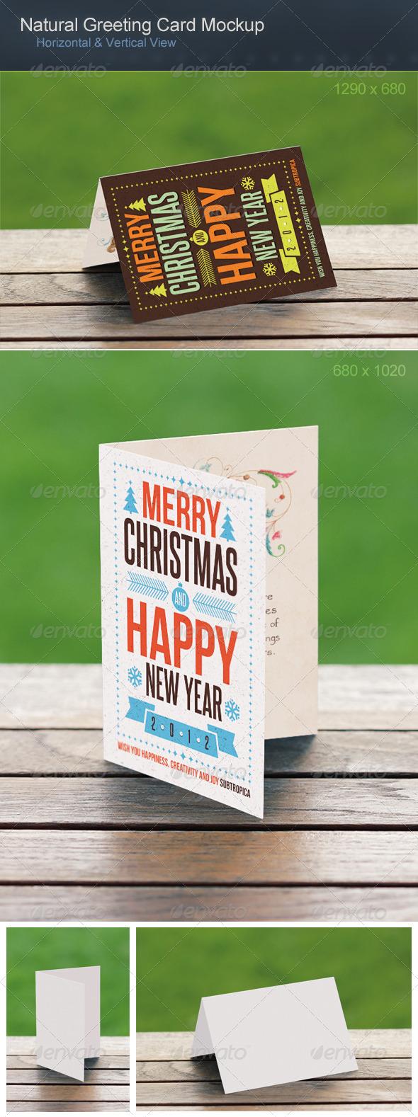 GraphicRiver Natural Greeting Card Mockup 2769358