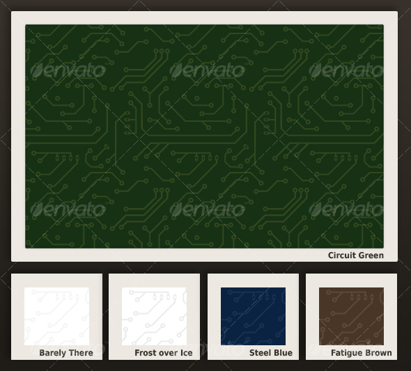 GraphicRiver Seamless Circuit Board Pattern in 5 colors 99999