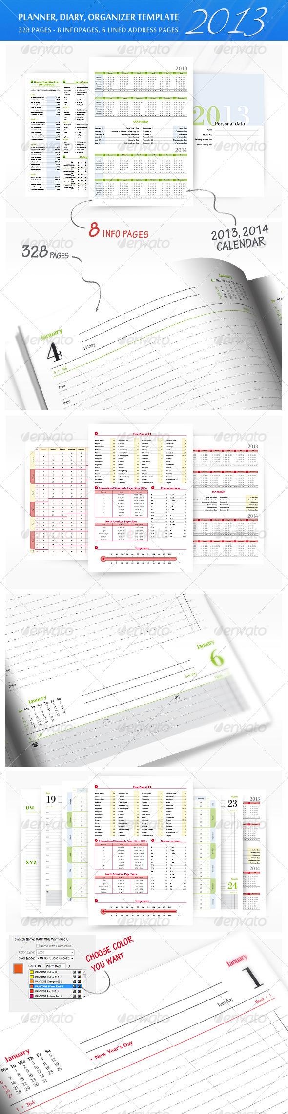 GraphicRiver Planner-Diary-Organizer 2013 2775561