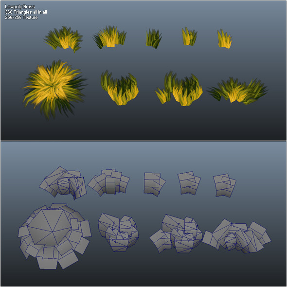 3DOcean Low Poly Grass Pack 301468