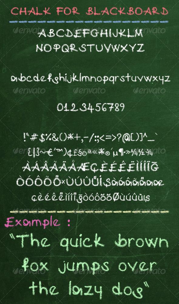 GraphicRiver Chalk For Blackboard 2749853